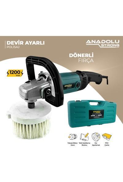 Anadolu Strong Dncstore Anadolustrong ANS1002DF 6 Kademeli 1200W Pasta Cila Koltuk Yıkama Makinası Dönerli Fırça