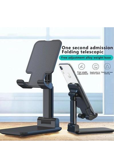 Matesstore Masa Üstü Telefon Tutucu Stant Masaüstü Tablet Tutacak Şarj Stand