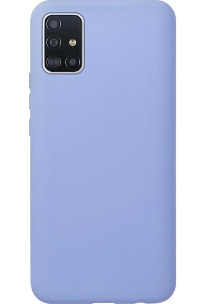 Fitcase Samsung Galaxy A71 (A715) Nano Lansman Silikon Arka Kapak Lila