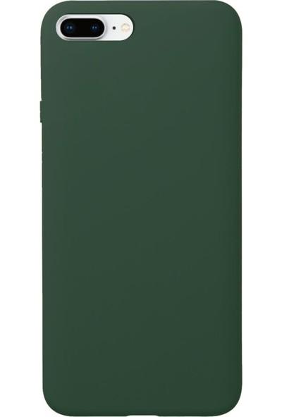 Fitcase iPhone 7 Plus / 8 Plus Kılıf Nano Lansman Silikon Arka Kapak Koyu Yeşil