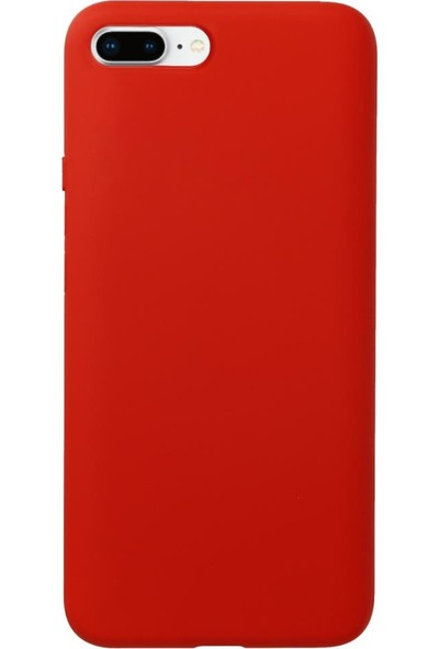 Fitcase iPhone 7 Plus / 8 Plus Kılıf Nano Lansman Silikon Arka Kapak Kırmızı