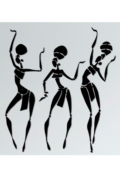 Omart Design Dans Figürü Metal Duvar Aksesuarı