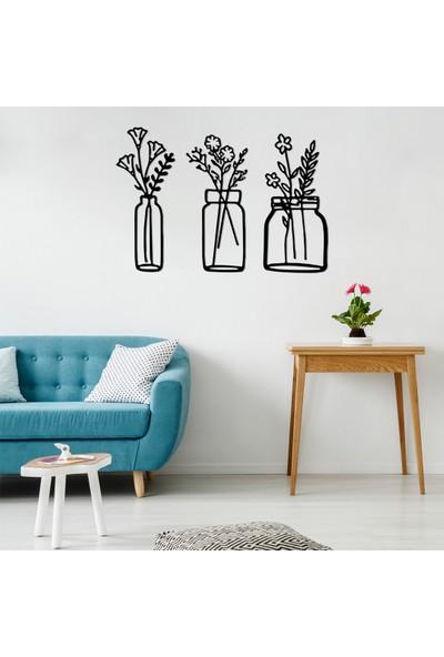 Omart Design Çiçekler Metal Duvar Aksesuarları