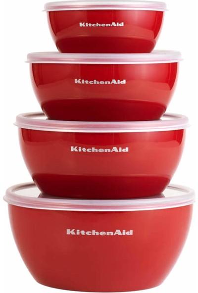 Kitchenaid KE176OSERA Klasik Kapaklı Saklama Kabı Seti 4'lü