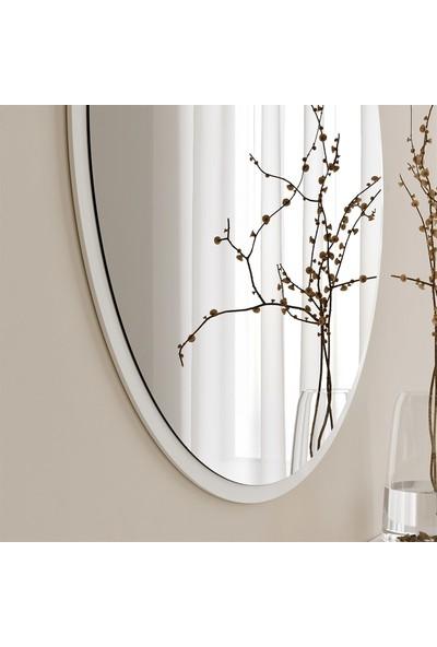 Neostill - Dekoratif Yuvarlak Ayna Beyaz A706