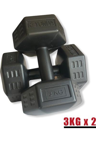 Aydın Sport 3 kg Dambıl Seti 2X3KG Toplam 6kg