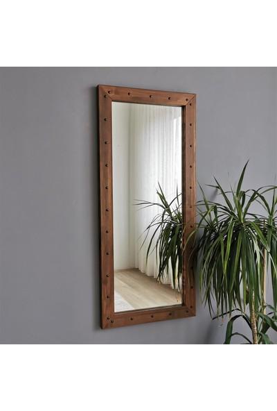 Neostill - Ahşap Zımbalı Ceviz Boy Aynası 50X110