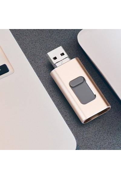 Schulzz iPhone Ios 64 GB Otg Flash Bellek Drive Hafıza Kartı USB Bellek +Micro USB Android