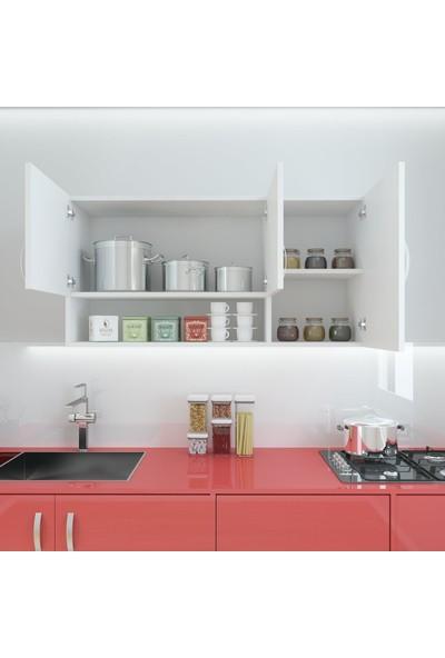 Kenzlife Hazır Mutfak Mirena Byz 060*120*22 Mutfak Banyo Dolabı Kapaklı Raflı