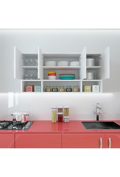 Kenzlife Hazır Mutfak Severus Byz 060*120*32 Mutfak Banyo Dolabı Kapaklı Raflı