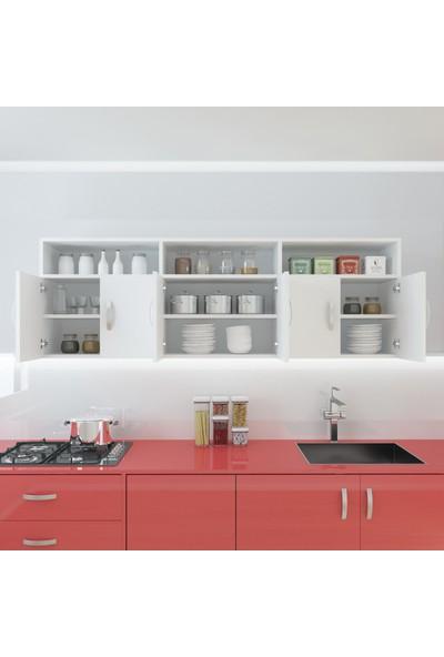 Kenzlife Hazır Mutfak Feline Byz 060*150*32 Mutfak Banyo Dolabı Kapaklı Raflı