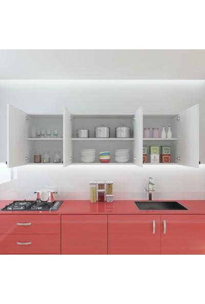 Kenzlife Hazır Mutfak Marina Byz 060*150*32 Mutfak Banyo Dolabı Kapaklı Raflı