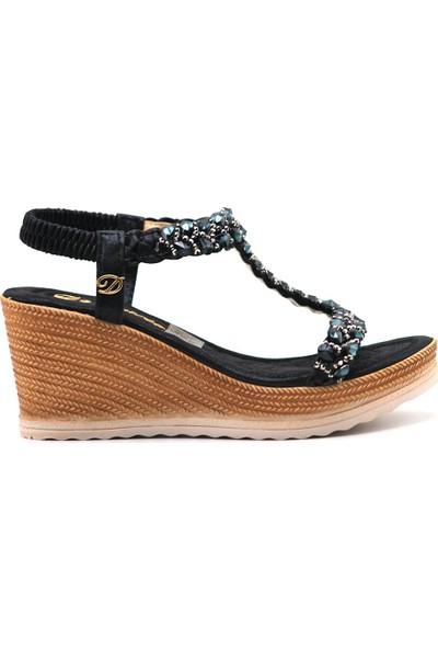 De Scario 1016 Kadın Günlük Suni Deri Sandalet