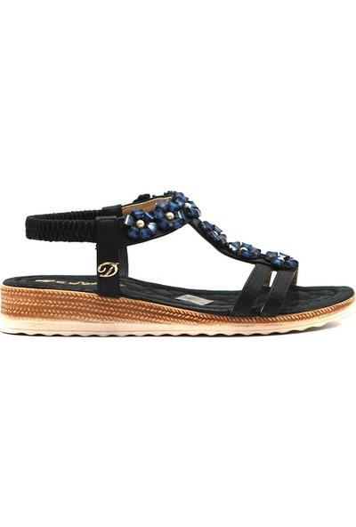 De Scario 982 Kadın Günlük Suni Deri Sandalet