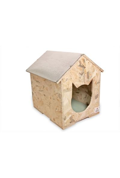 Narım Dış & İç Mekan Ahşap Kedi Yuvası Ölçüleri: 35x40x40