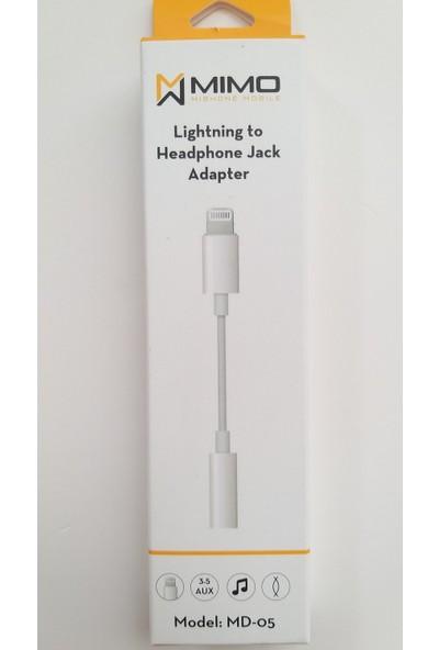 Mimo Apple iPhone Aux Kulaklık Çevirici Kablo Adaptör