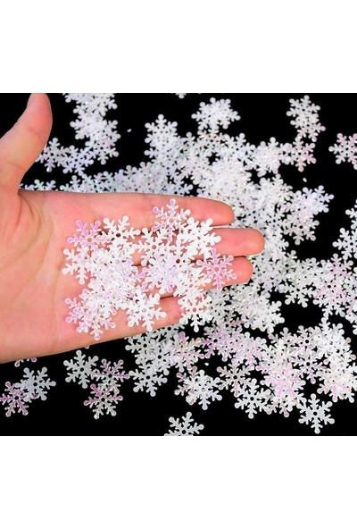 Masa Üzeri Yılbaşı Kar Taneleri Simli Eva 20'li Paket