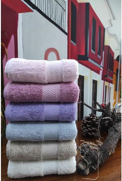Roi Tekstil 6 Adet Bambu Havlu