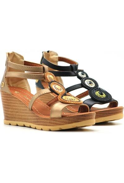De Scario 01 Kadın Dolgu Topuk Sandalet
