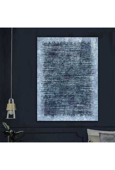 Ören Mavi Renk Dijital Termal Taban Kaymaz Halı
