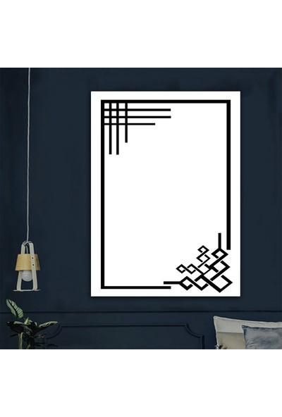 Ören Beyaz Zemin Siyah Çerçeve Desen Dijital Termal Taban Kaymaz Halı