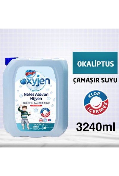 Bingo Oksijen Çamaşır Suyu Okaliptus 3,24 L