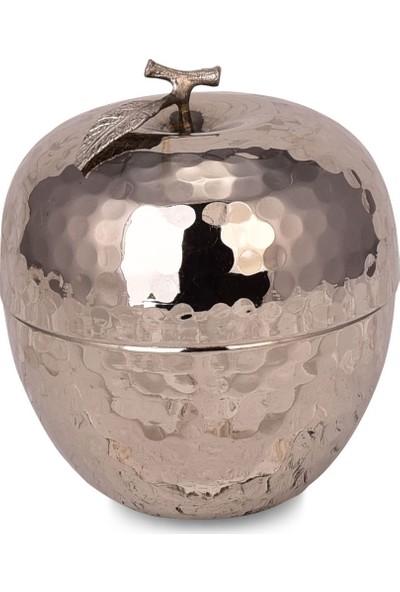 Zugazo Dövme Bakır Mabeyan Dekoratif Elma Gümüş 7 cm