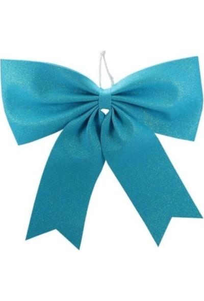 Happy Land Yılbaşı Mavi Fiyonk Süs 20 cm