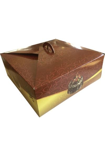 Büyük Bordo Yaş Pasta Kutusu 100'LÜ