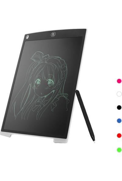 MBW H12 12 Inç LCD Dijital Yazma Çizim Tableti El Yazısı Beyaz