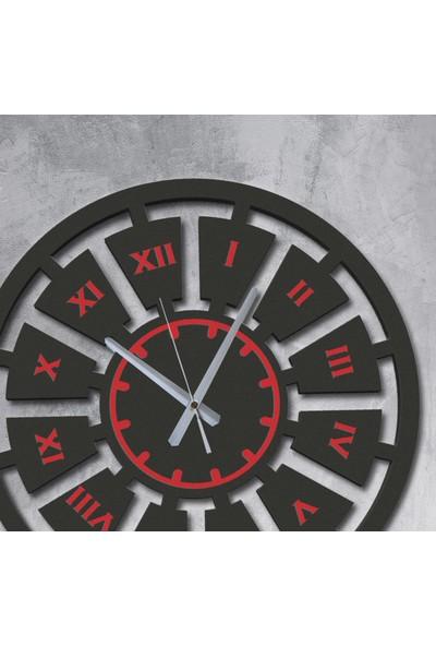 Renklendiricim Dekoratif Model 3 Ahşap Duvar Saati