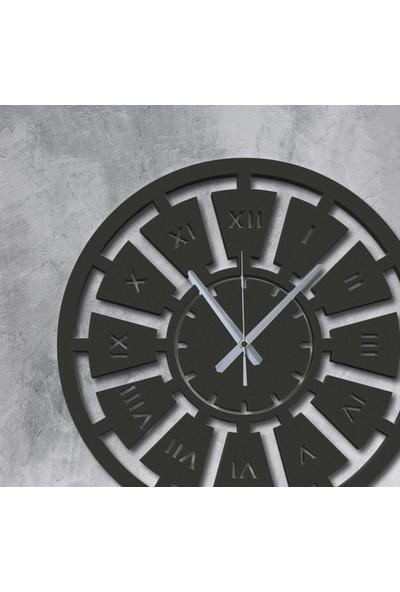 Renklendiricim Dekoratif Siyah Ahşap Duvar Saati