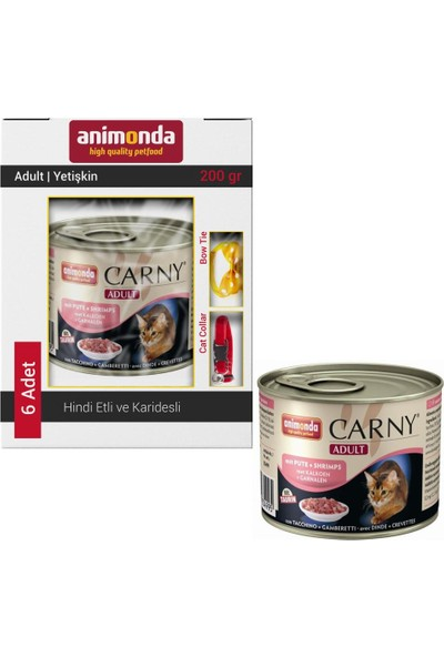 Animonda Carny Hindi Etli Karidesli Kedi Konservesi 6X200 gr