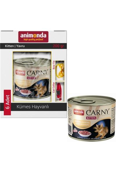 Animonda Carny Kitten Kümes Hayvanlı Kedi Konservesi 6X200 gr