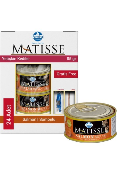 Matisse Mousse Salmon Somonlu Kedi Konservesi 24X85 gr
