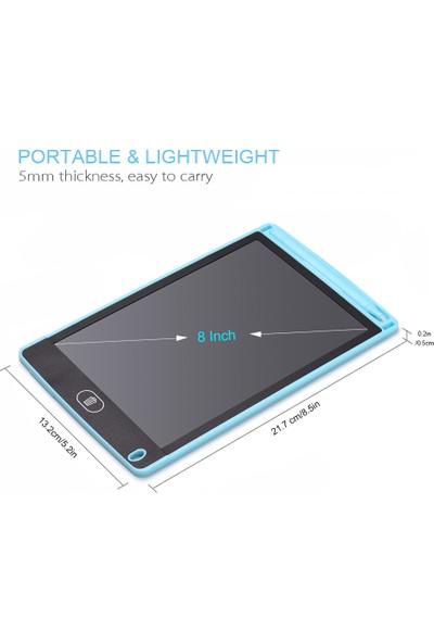 MBW Taşınabilir 8 Inç LCD Yazma Tablet Ultra-Ince Elektronik Pembe