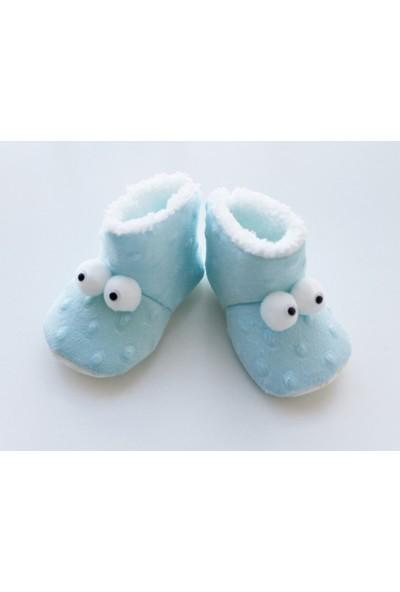 Puppis Baby Gözlü Mavi Panduf