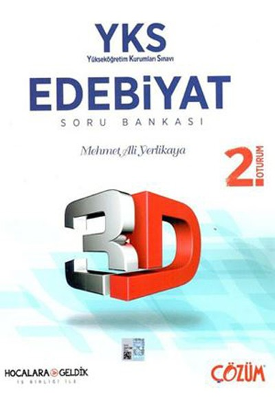 Çözüm YKS TYT 2. Oturum 3D Edebiyat Soru Bankası Çözüm Yayınları