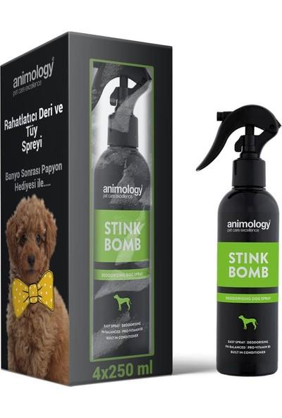 Animology Stink Bomb Deri ve Tüy Ferahlatıcı Köpek Sprey 4X250 ml
