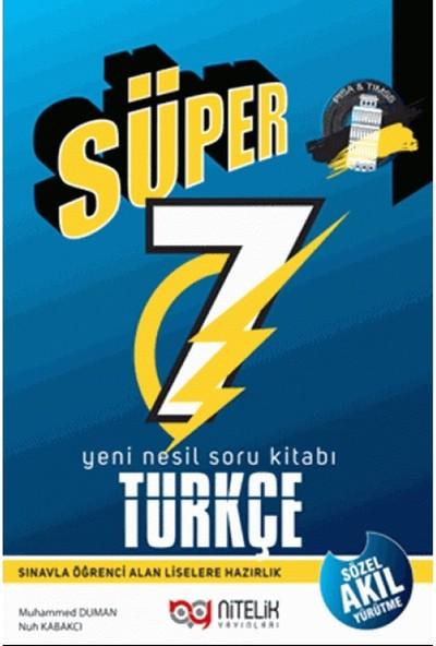 Nitelik Yayınları 7. Sınıf Süper Türkçe Soru Bankası