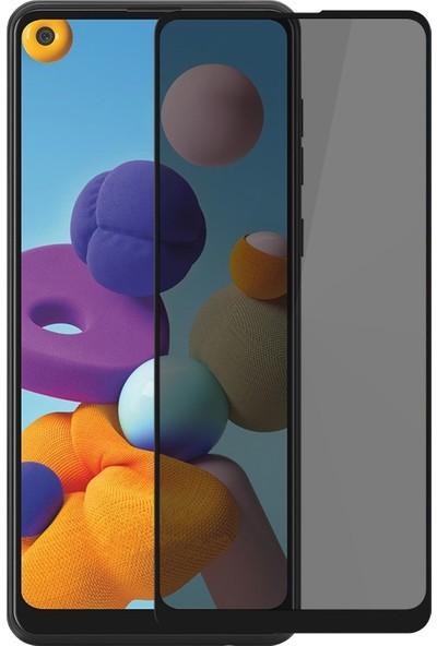 Volente Samsung Galaxy A21 5D Privacy Hayalet Ekran Koruyucu