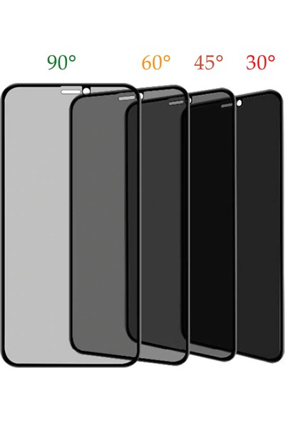 Volente Oppo A5S 5D Privacy Hayalet Ekran Koruyucu