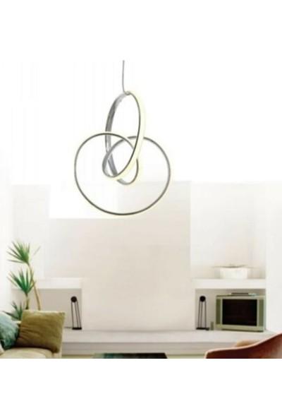 Burenze Modern Sarkıt LED Avize Krom Kademeli 3 Renk BURENZE557