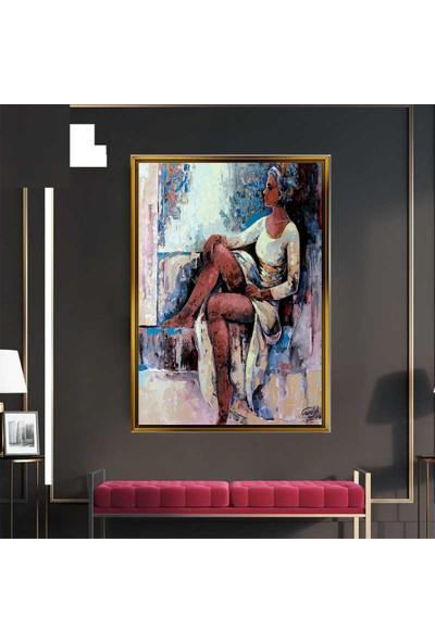 Giyense dekoratif Özel Tasarım Altın Renginde Çerçeveli Sanatsal Tablo 00116