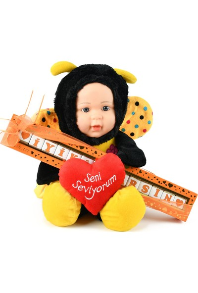 Iyi Ki Varsın Harfli Çikolata Sütlü 135 gr x 40 cm Sarı Kanatlı Peluş Bebek