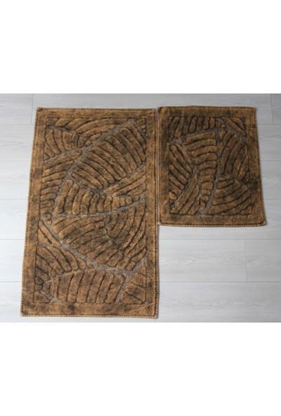 Dede Ev Tekstil Pamuklu 2'li Banyo Paspas Seti Klozet Takımı