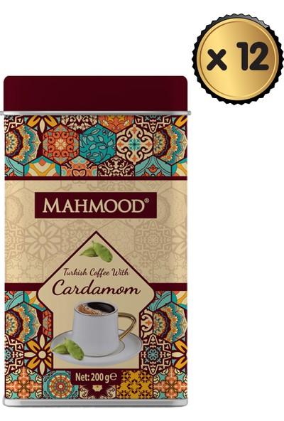Mahmood Coffee Mahmood Kakuleli Türk Kahvesi Teneke 200 gr x 12 'li
