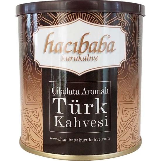 Hacıbaba Çikolata Aromalı Türk Kahvesi Teneke Kutu - 100 gr 5'li