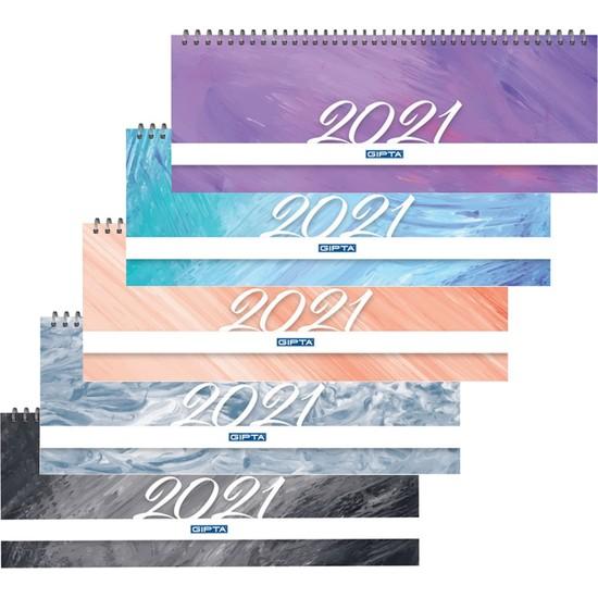 Gıpta 2021 Haftalık Masa Takvimi 12 x 33 cm 5 Adet