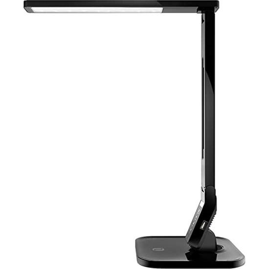 TaoTronics TT-DL01 Doğal Akıllı 14W LED Masa Lambası Philips EnabLED Programı Üyesi Siyah (4 Renk 5 Kısıklık Dokunmatik Ayarlı)